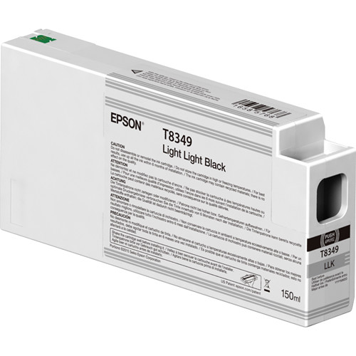Epson T834900 UltraChrome HD Light Light Black Ink Cartridge (150ml)