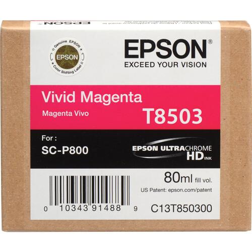 Epson T850300 UltraChrome HD Vivid Magenta Ink Cartridge (80 ml)