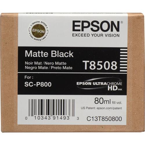 Epson T850800 UltraChrome HD Matte Black Ink Cartridge (80 ml)