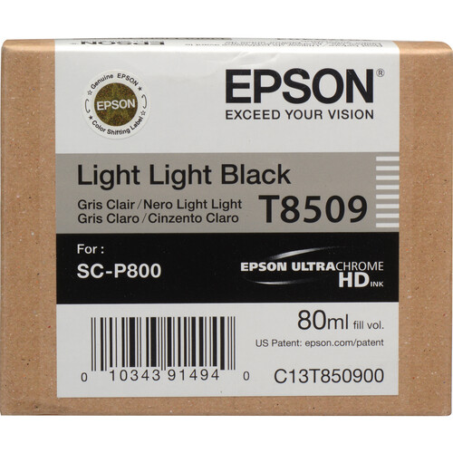 Epson T850900 UltraChrome HD Light Light Black Ink Cartridge (80 ml)