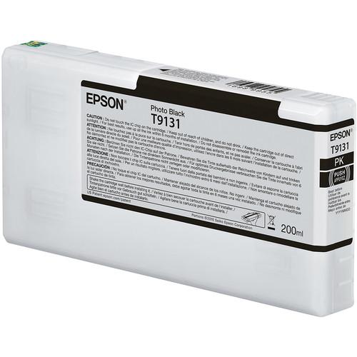 Epson T9131 UltraChrome HDX Photo Black Ink Cartridge (200 mL)