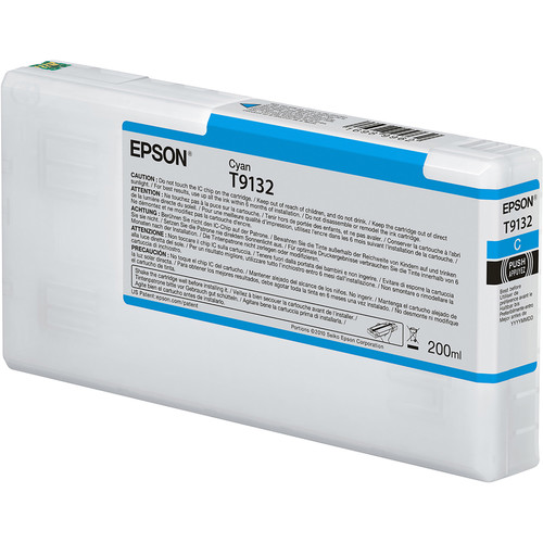 Epson T9132 UltraChrome HDX Cyan Ink Cartridge (200 mL)