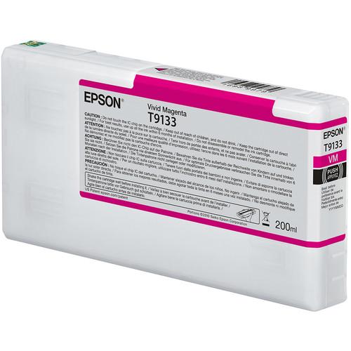Epson T9133 UltraChrome HDX Vivid Magenta Ink Cartridge (200 mL)