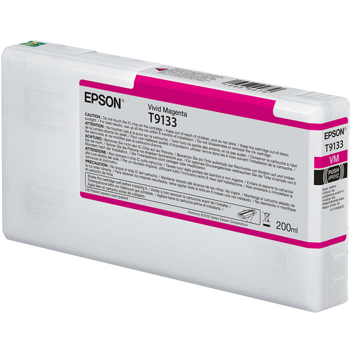 Epson T9133 UltraChrome HDX Vivid Magenta Ink Cartridge (200 mL)