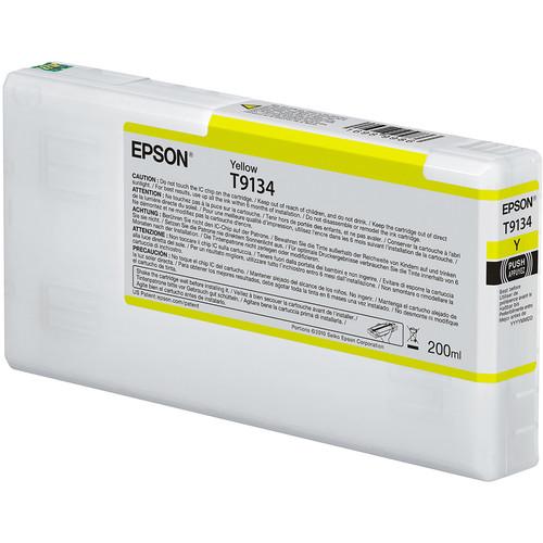 Epson T9134 UltraChrome HDX Yellow Ink Cartridge (200 mL)