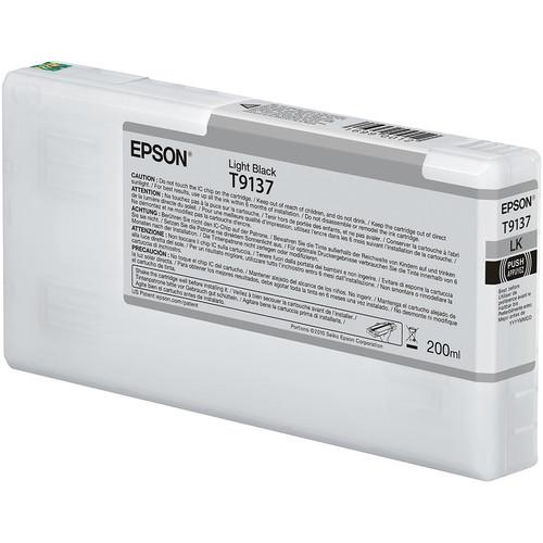 Epson T9137 UltraChrome HDX Light Black Ink Cartridge (200 mL)