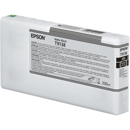 Epson T9138 UltraChrome HDX Matte Black Ink Cartridge (200 mL)