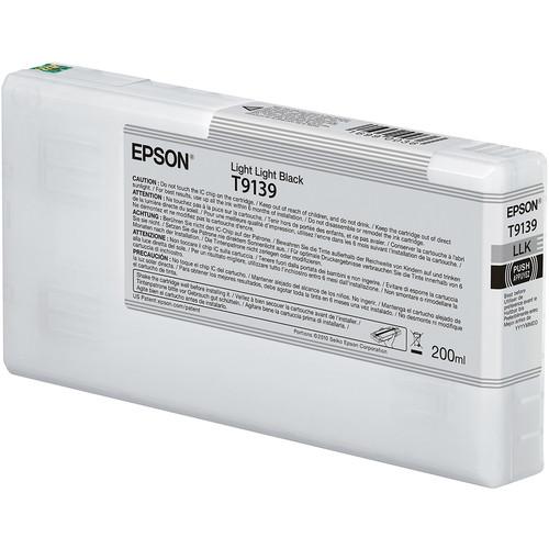 Epson T9139 UltraChrome HDX Light Light Black Ink Cartridge (200 mL)