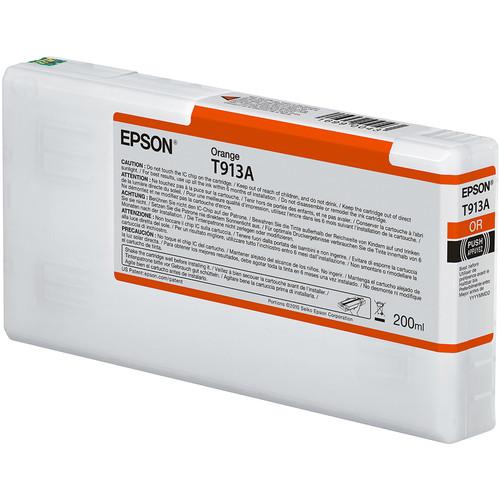 Epson T913A UltraChrome HDX Orange Ink Cartridge (200 mL)