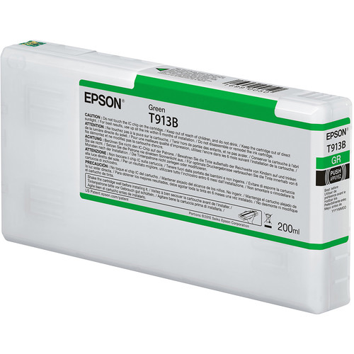 Epson T913B UltraChrome HDX Green Ink Cartridge (200 mL)