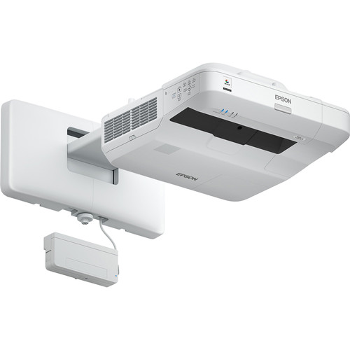 Epson BrightLink Pro 1460Ui 4400L WUXGA Ultra-Short Throw 3LCD Projector with Wall Mount