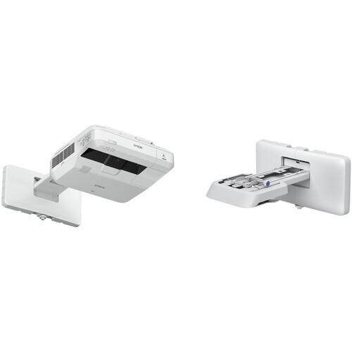 Epson PowerLite 700U 4000-Lumen WUXGA Ultra-Short Throw Laser LCD Projector and Wall Mount Kit