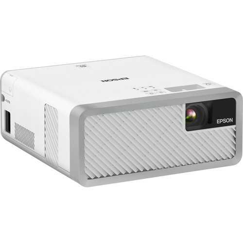 Epson EF-100 Home Theater Laser 3LCD Projector with Android TV Wireless Adapter (White)