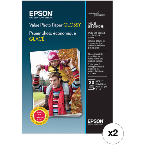 "Epson Value Photo Paper Glossy (4 x 6"", 40 Sheets)"