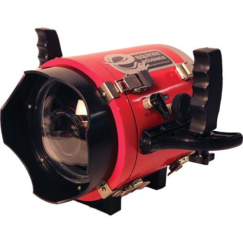 Equinox EQBMCC Blackmagic Underwater Housing with Lens Port (Red)