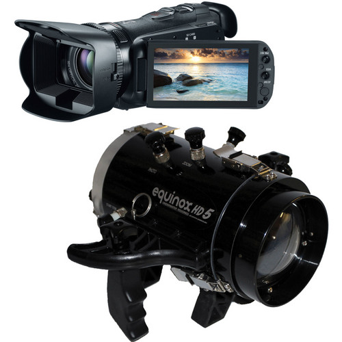 Equinox HD5 Underwater Housing with Canon 32GB VIXIA HF G20 Full HD Camcorder Kit