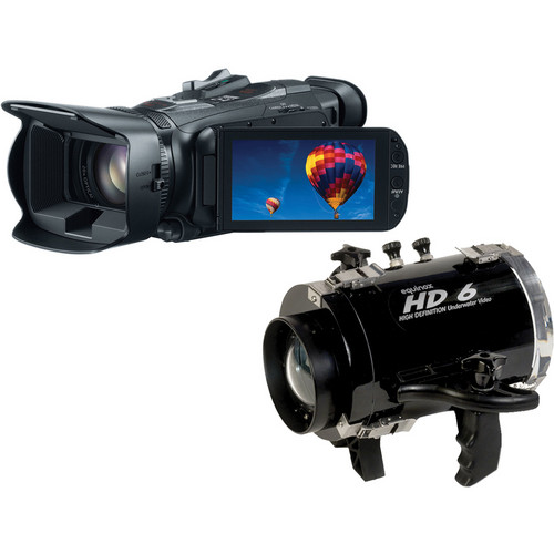 Equinox HD6 Underwater Housing with Canon VIXIA HF G30 Full HD Camcorder Kit