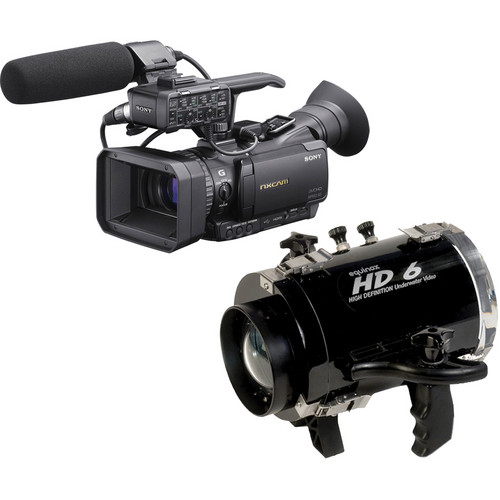Equinox HD6 Underwater Housing with Sony HXR-NX70U NXCAM Compact Camcorder Kit