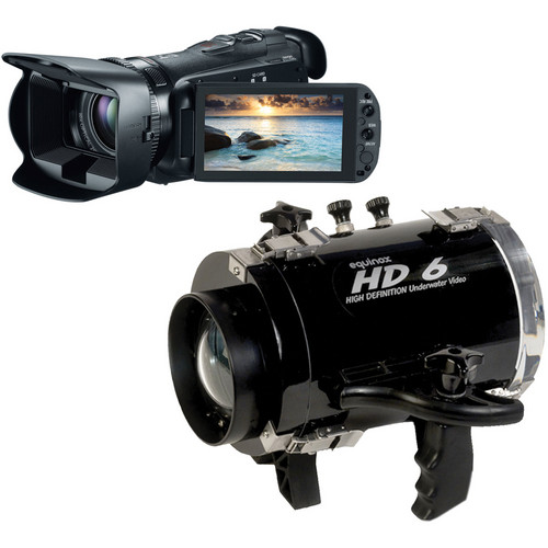 Equinox HD6 Underwater Housing with Canon 32GB VIXIA HF G20 Full HD Camcorder Kit
