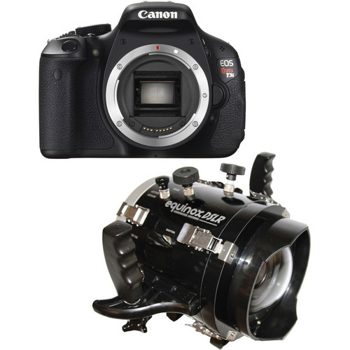 Equinox Underwater Housing and Canon EOS Rebel T3i DSLR Camera Body Kit with Port for 18-55mm Lens