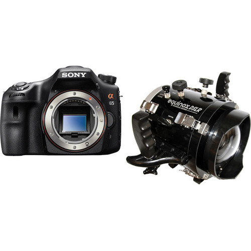 Equinox Underwater Housing with Sony Alpha SLT-A65 DSLR Camera Body Kit