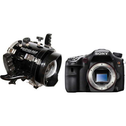 Equinox Underwater Housing Kit with Sony Alpha SLT-A77 DSLR Camera Body and Lens Port for 16-50mm f/2.8