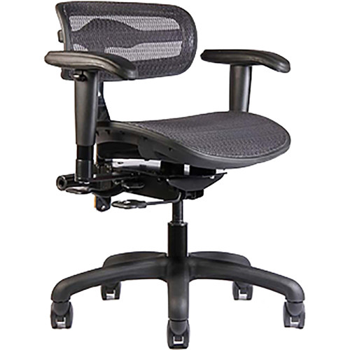ErgoLab Stealth Standard Chair for Audio & Lighting Engineer (Black, Small Seat)