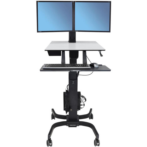 Ergotron WorkFit-C Dual Sit-Stand Workstation (Black)