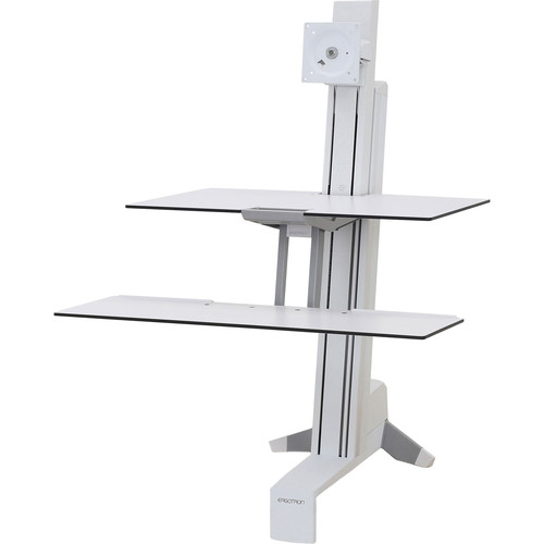Ergotron Workfit-S, Single-Ld, WS Worksurface  Large Kybd Tray, Bright White