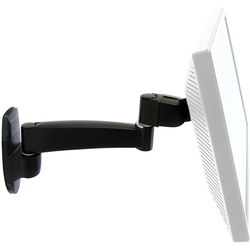 Ergotron Single Extension 200 Series Wall Mount Arm (Black)
