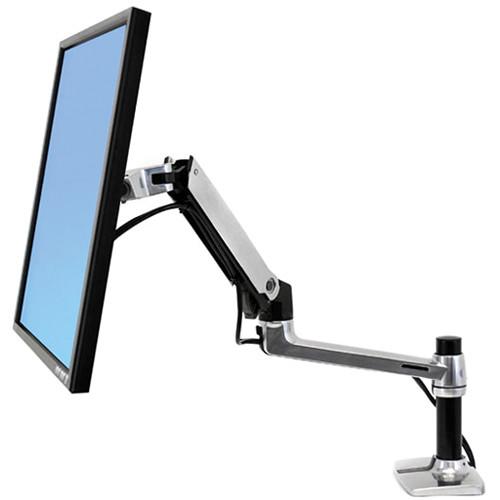 Ergotron LX Desk Mount Monitor Arm (Polished Aluminum)