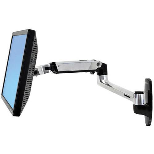 Ergotron LX Wall Mount Monitor Arm (Polished Aluminum)