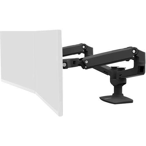 Ergotron LX Dual Desk Mount Side-by-Side Arm (Black)