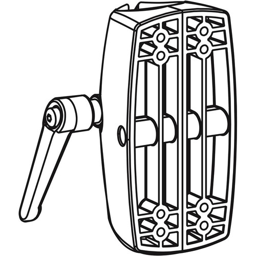 "Ergotron 60-420-200 Large Clamp for 1.5"" Pole (Black)"