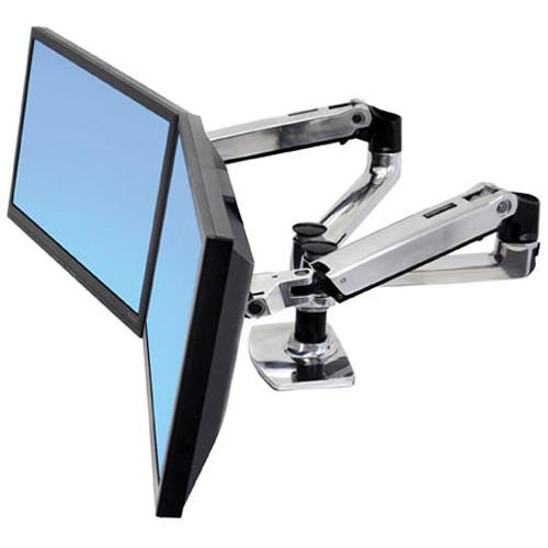 Ergotron LX Dual Desk Mount Side-by-Side Arm (Polished Aluminum)