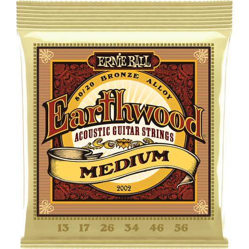 Ernie Ball Earthwood Medium Acoustic Guitar Strings 80/20 Bronze (13 - 56)