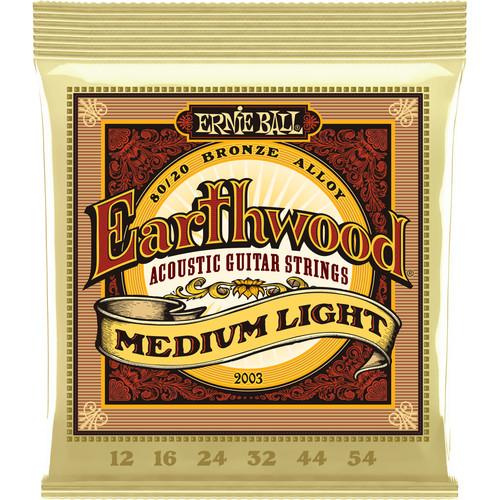 Ernie Ball Earthwood Medium Light Acoustic Guitar Strings 80/20 Bronze (12 - 54)