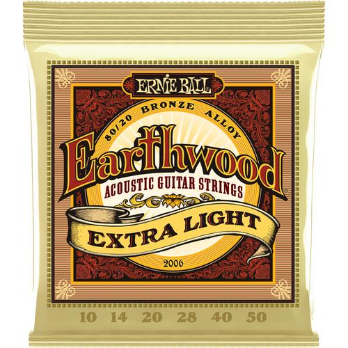 Ernie Ball Earthwood Extra Light Acoustic Guitar Strings 80/20 Bronze (10 - 50)