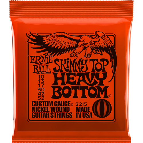 Ernie Ball Skinny Top Heavy Bottom Slinky Nickel Wound Electric Guitar Strings (6-String Set, .010 - .052)