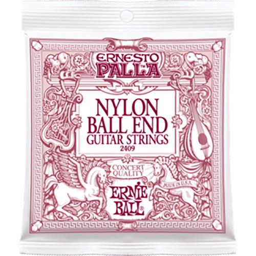Ernie Ball Ernesto Palla Black & Gold Nylon Classical Guitar Strings with Ball Ends (Medium Tension, 28 - 42)