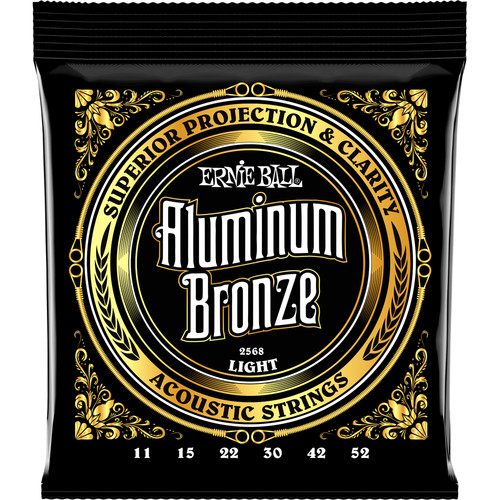 Ernie Ball Light Aluminum Bronze Acoustic Guitar Strings (11 - 52)