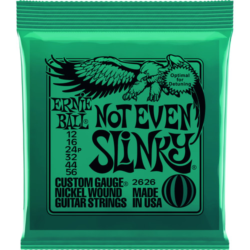 Ernie Ball Not Even Slinky Nickel Wound Electric Guitar Strings (6-String Set, .012 - .056)