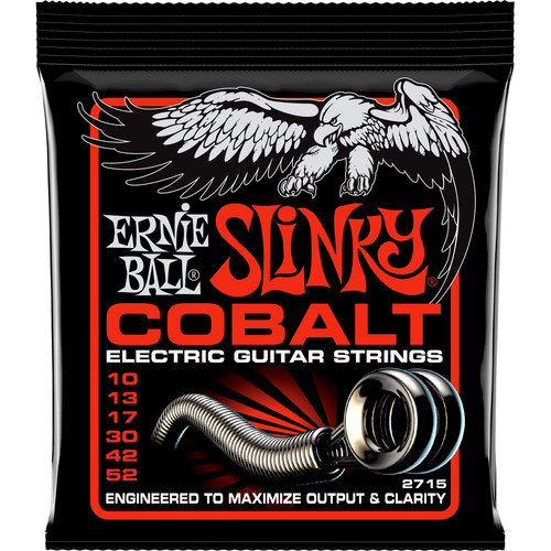 Ernie Ball Cobalt Skinny Top/Heavy Bottom Slinky Electric Guitar Strings (6-String Set, .010 - .052)