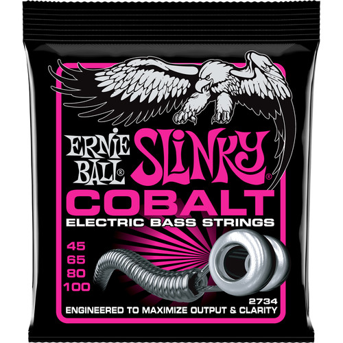 Ernie Ball Cobalt Super Slinky Electric Bass Strings (4-String Set, .045 - .100)