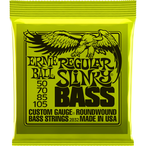 Ernie Ball Regular Slinky Nickel Wound Electric Bass Strings (4-String Set, .050 - .105)