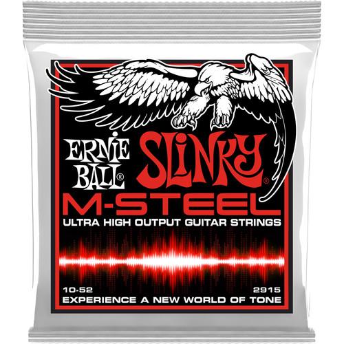 Ernie Ball M-Steel Skinny Top Heavy Bottom Slinky Electric Guitar Strings (6-String Set, .010 - .052)