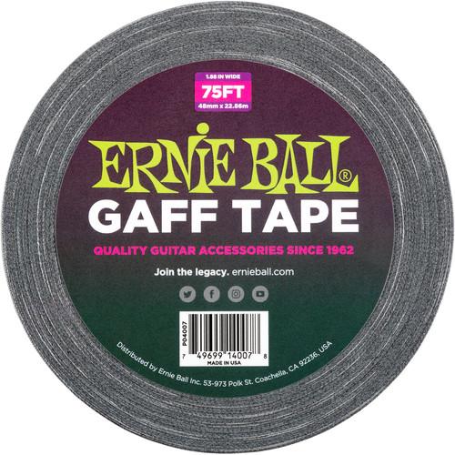 """Ernie Ball Pro 2"""" Gaff' Tape (25 yd, Black)"""