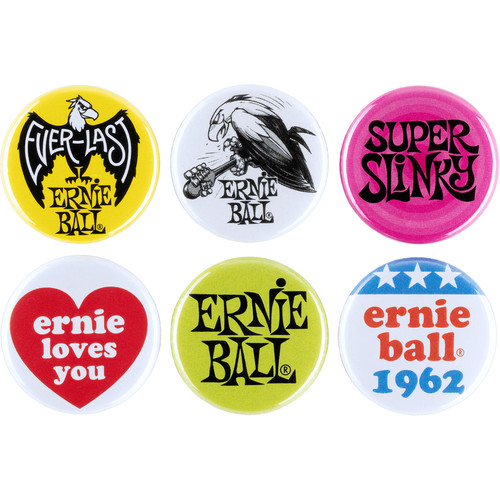 "Ernie Ball 1"" Assorted Buttons (6-Pack)"