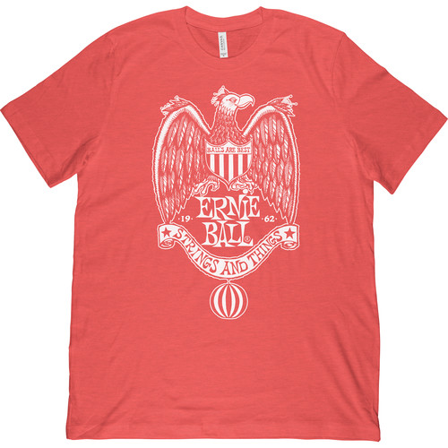 Ernie Ball 1962 Strings and Things T-Shirt (XX-Large, Red)