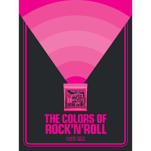 Ernie Ball The Colors of Rock'N'Roll Super Slinky Poster